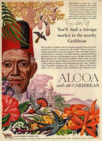 Alcoa Steamship Company's Caribbean – You'll find a foreign market in the nearby Caribbean (1949)