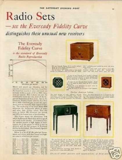 Eveready Radio Sets Color Ad 2 Page (1928)