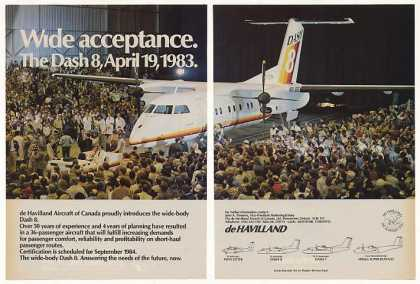 De Havilland Dash 8 Aircraft Intro Photo 2-Page (1983)