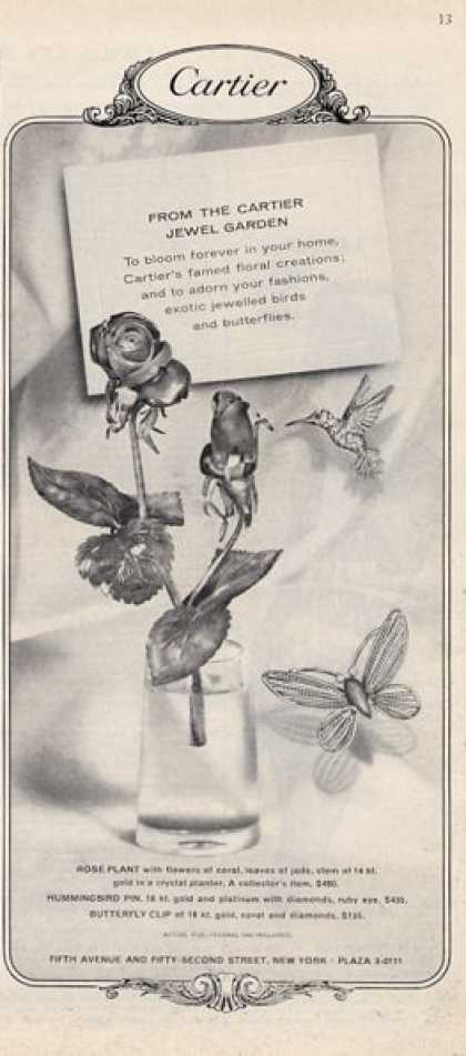 Cartier Features Rose Hummingbird Butter- (1964)