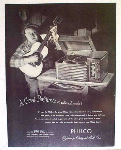 Philco Phonographs – Burl Ives (1947)
