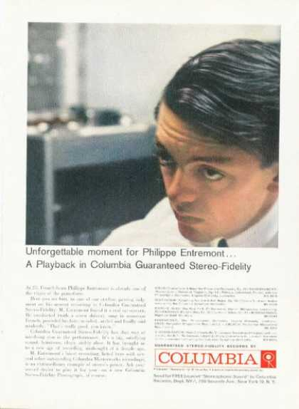 Columbia Records Ad Philippe Entremont Piano (1959)