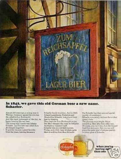 Schaefer Beer (1966)