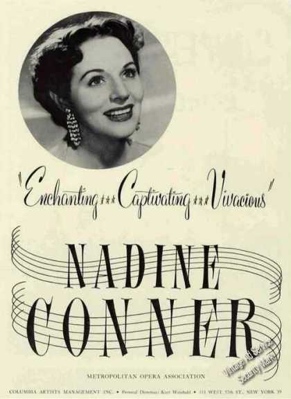Nadine Conner Photo Opera Booking (1955)