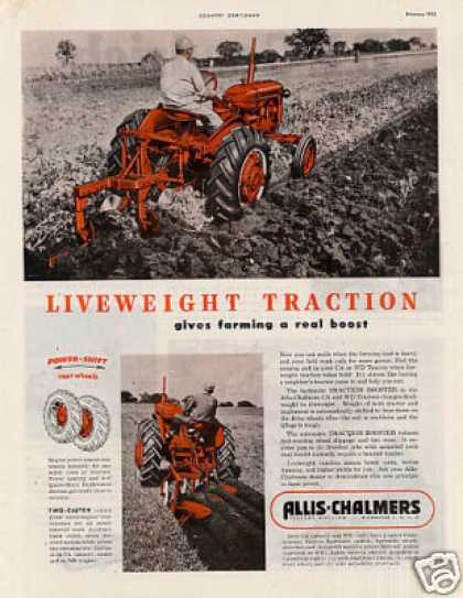Allis Chalmers Tractor Ad Models Ca, Wd (1952)