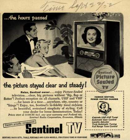 Sentinel TV's Television – ...the hours passed, the picture stayed clear and steady (1952)