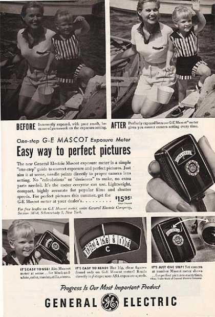 General Electric's G-E Mascot Exposure Meter (1955)