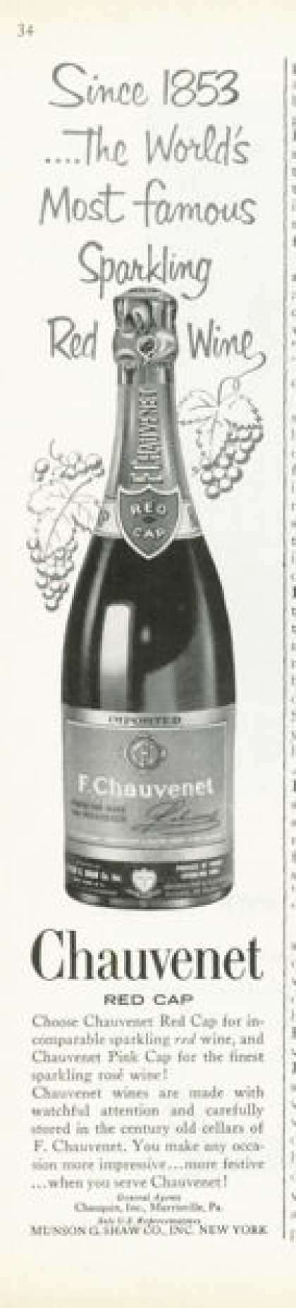 F. Chauvenet Red Wine Bottle (1961)