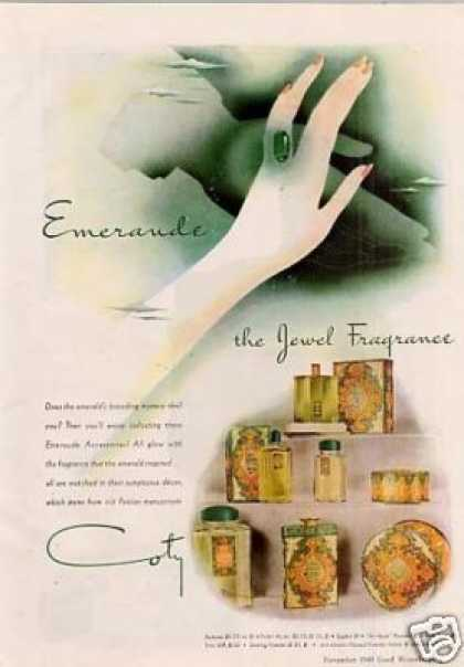 Coty Emeraude Fragrance (1940)