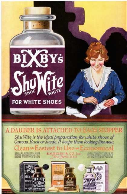 Bixbys, Shoe Products and Clothing, USA (1920)