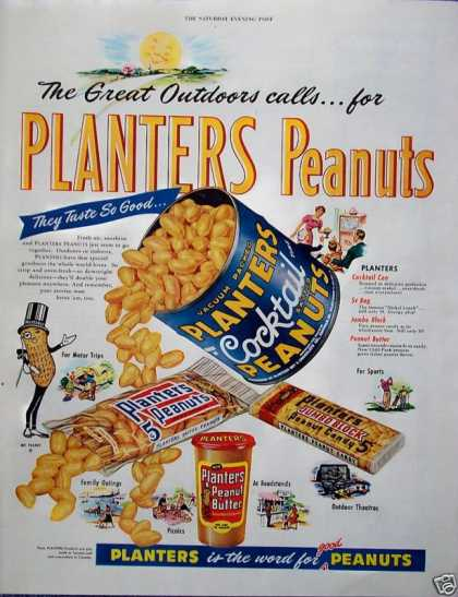 Planters Peanuts The Great Outdoors Sun Happy (1955)