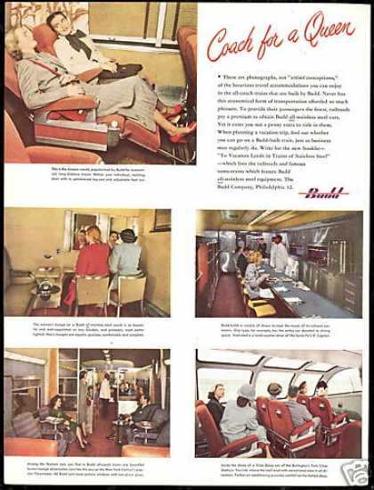 Budd Coach Train 5 Photo Vintage Railroad (1948)