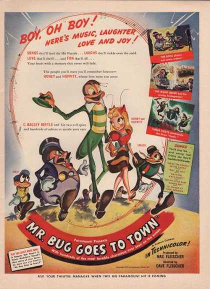Mr Bug Goes To Town Movie Paramount (1942)