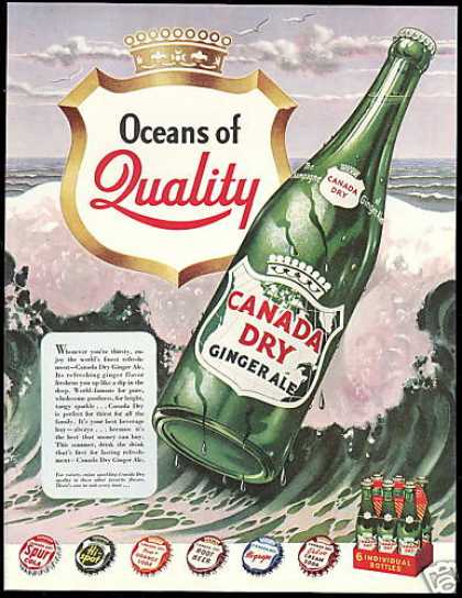 Canada Dry Ginger Ale Spur Hi Spot Hi Grape (1949)