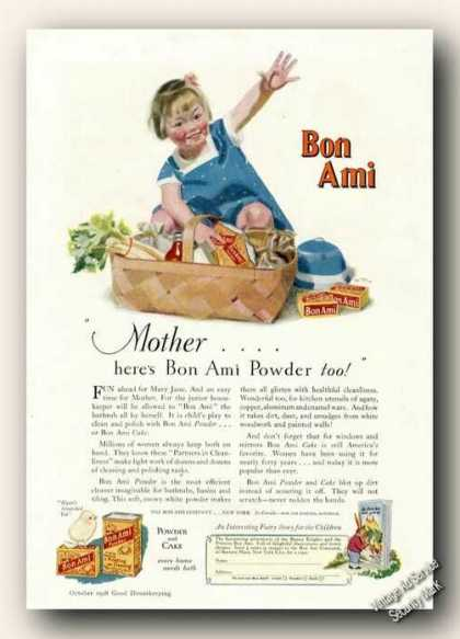 Bon Ami Powder and Cake Antique Color (1928)