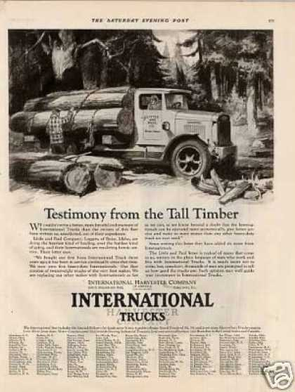 "International Truck Ad ""Testimony From... (1928)"