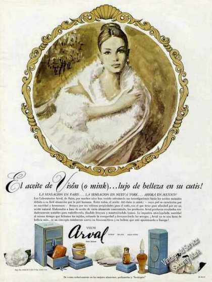 Vison Arval Perfume Spanish Language (1968)