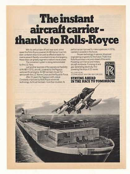 Rolls-Royce AV-8B Harrier II Aircraft Ship Base (1982)