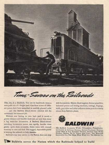 Time Savers On the Railroads Baldwin (1943)