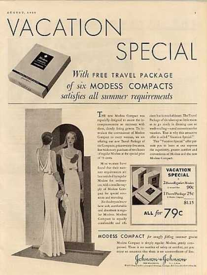 Johnson & Johnson Modess (1930)