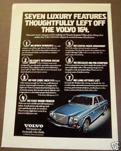 Blue Volvo 164 Car Auto (1975)