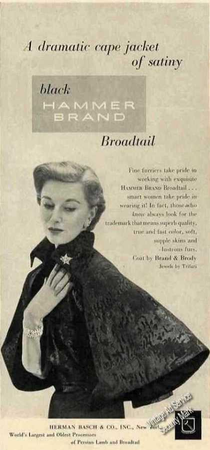 Cape Jacket of Hammer Brand Broadtail Fashion (1950)