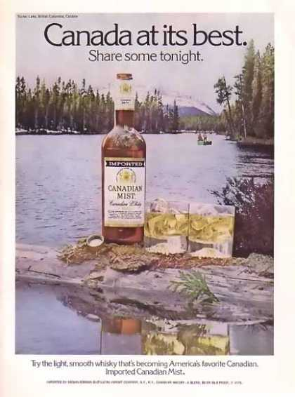Canadian Mist Whisky – British Columbia, Canada (1976)