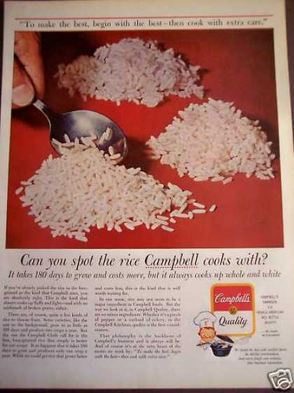 Best Quality Rice for Campbell's Soup (1963)