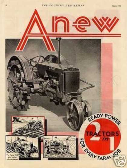 "Case Model ""Cc"" Tractor Color Ad 2 Page (1931)"
