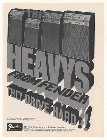 Fender Solid State Heavys Amps (1969)