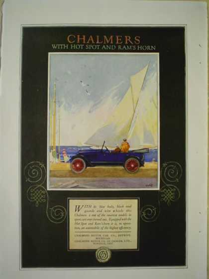 Chalmers motor car with hotspot and rams horn AND Waltham Clocks (1920)