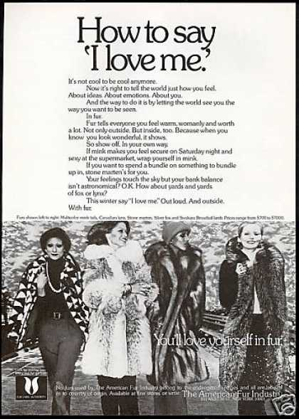 American Fur Coat Photo I Love Me (1973)