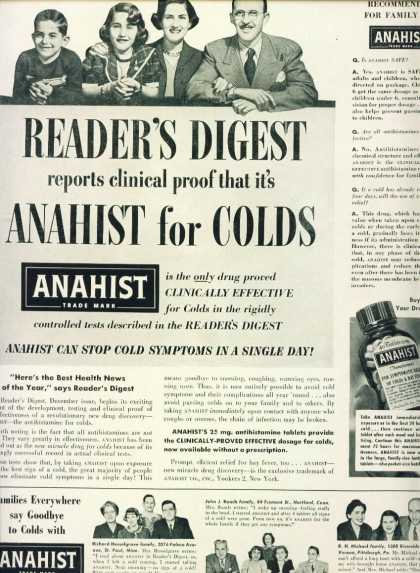 Anahist for Colds (1950)