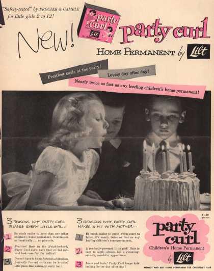 Procter & Gamble Co.'s Lilt Home Permanent – New! party curl home permanent by Lilt (1953)