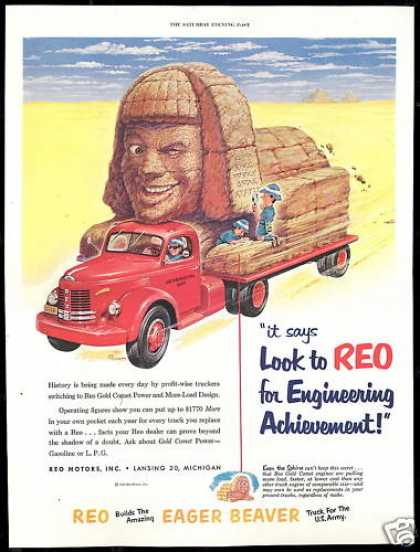 Reo Truck Archeological Sphinx Art (1952)