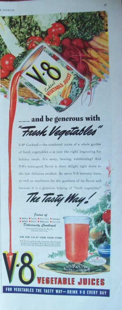 V 8 Vegetable Juices (1944)