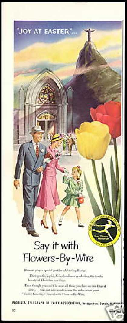 FTD Flowers Florist Joy At Easter (1954)