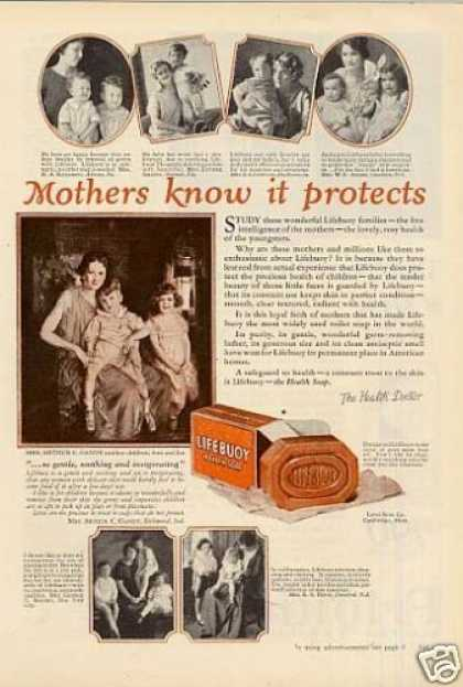 "Lifebuoy Soap Ad ""Mothers Know It... (1925)"