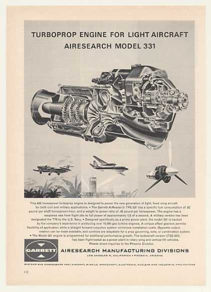 Garrett AiResearch Model 331 Turboprop Engine (1964)