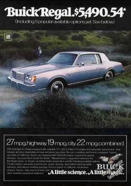 "Buick Regal ""A Little Science. a Little Magic."" (1978)"
