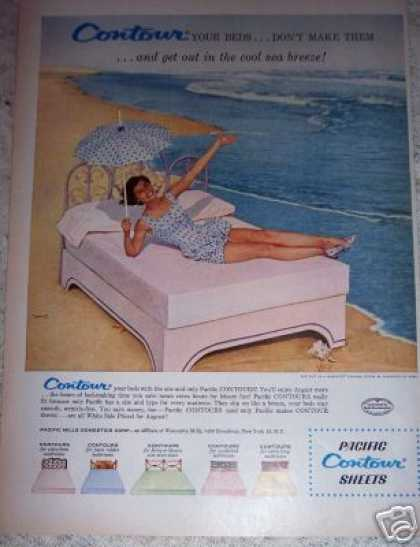 Pacific Sheets Girl at the Beach (1956)