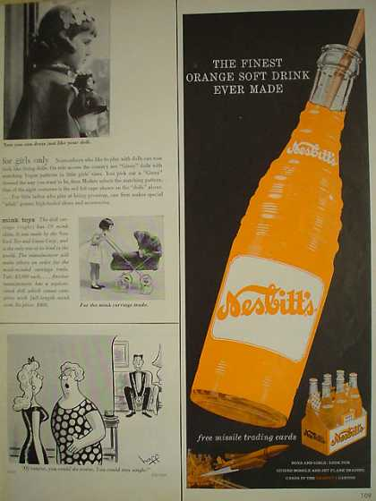 Nesbitts Orange Soda Finest soft drink ever made (1958)
