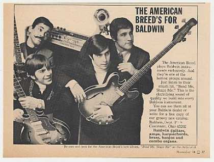 The American Breed Baldwin Instruments Photo (1968)