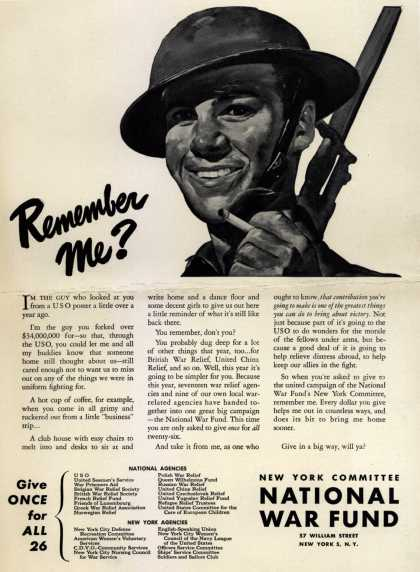 New York Committee National War Fund's National War Fund – Remember Me? (1943)