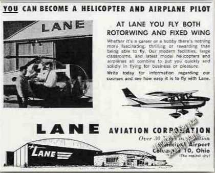 Lane Aviation Columbus Oh Pilot Training (1963)