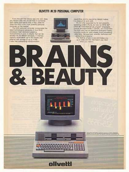 Olivetti M20 Personal Computer Brains & Beauty (1982)