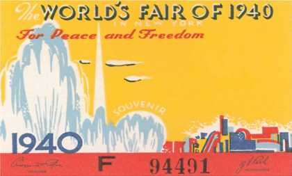 Souvenir Ticket to New York World's Fair (1940)