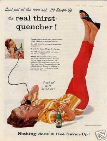 "Seven-up Ad ""Cool Pet of the Teen Set... (1957)"