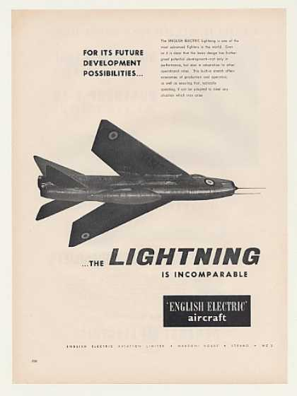 English Electric Lightning Fighter Aircraft (1960)