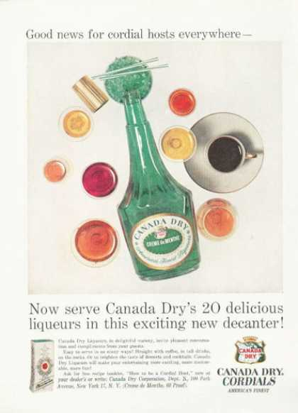 Canada Dry Cordials Bottle (1959)